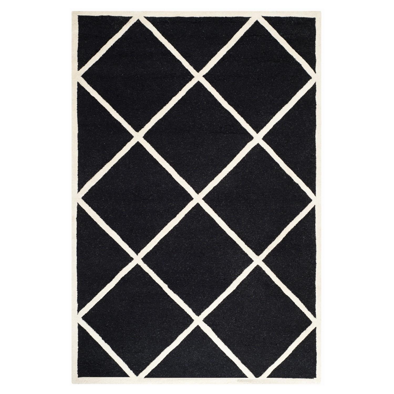 Tapijt Wilshire - zwart/crèmekleurig - 122x183cm, Safavieh