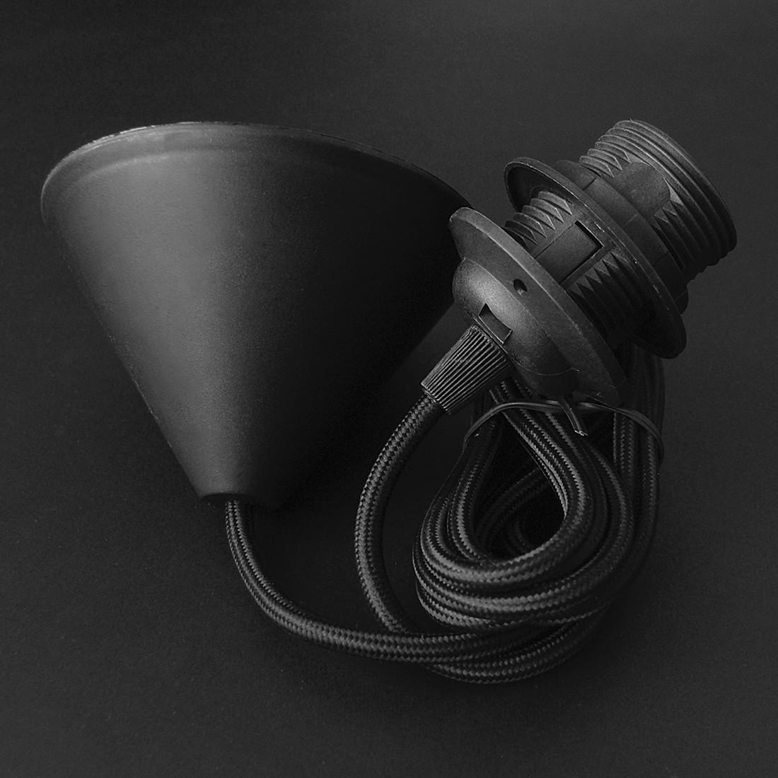 energie  A++, Textielkabel- en fittingset voor ophanging van hanglamp - 2,1m zwart, VITA Copenhagen