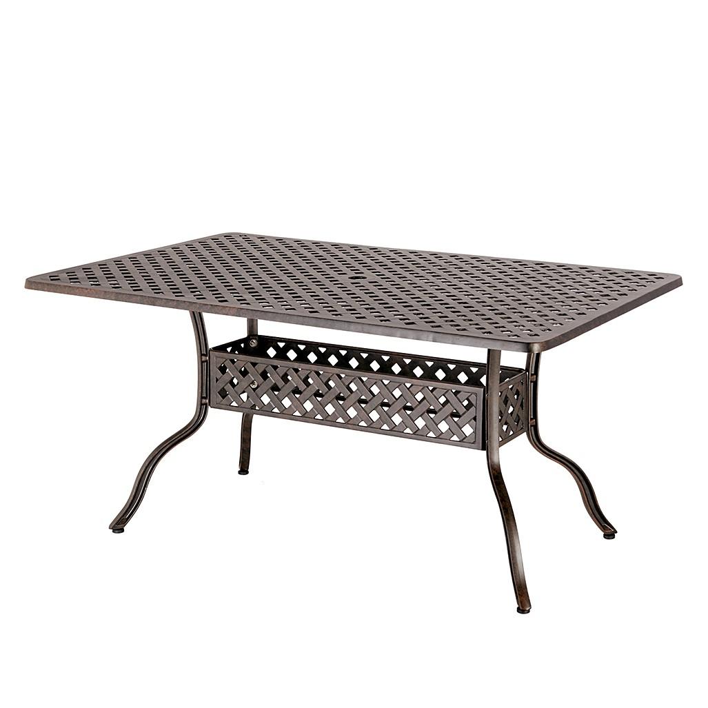 Tisch Antigua - Alu-Guss - Bronze, Best Freizeitmöbel