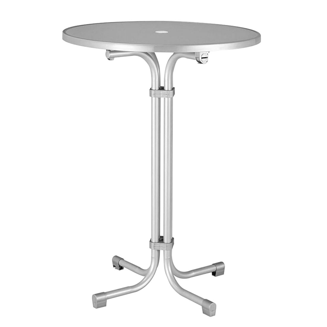 tavolino da bar Mulitflex - Tubo di acciaio color argento, Best Freizeitmöbel