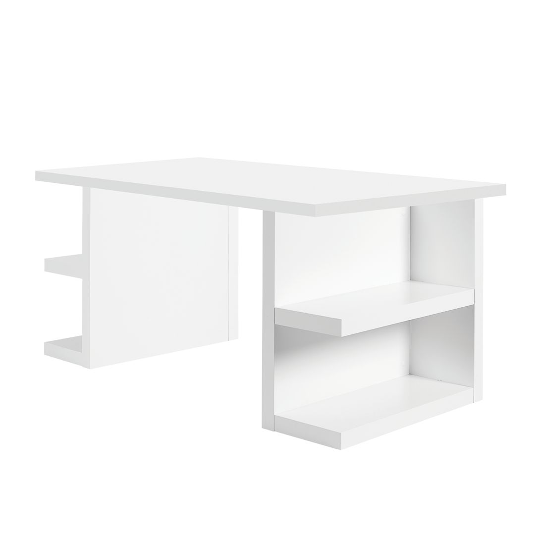 Home 24 - Bureau multi storage - blanc mat, loftscape