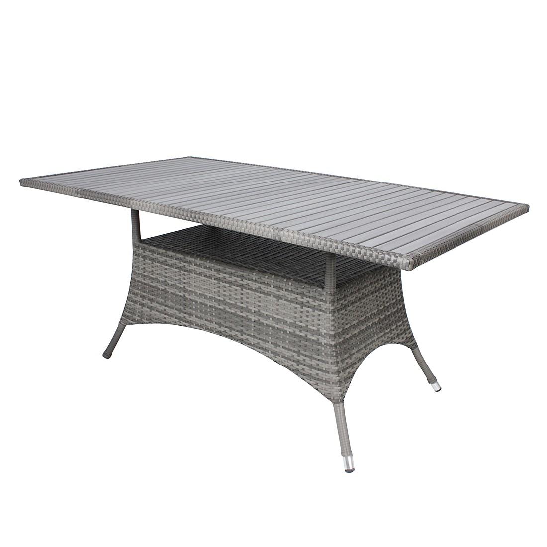 Polyrattan Tisch Grau : tisch tuin polyrattan grau garden pleasure online bestellen ~ Indierocktalk.com Haus und Dekorationen