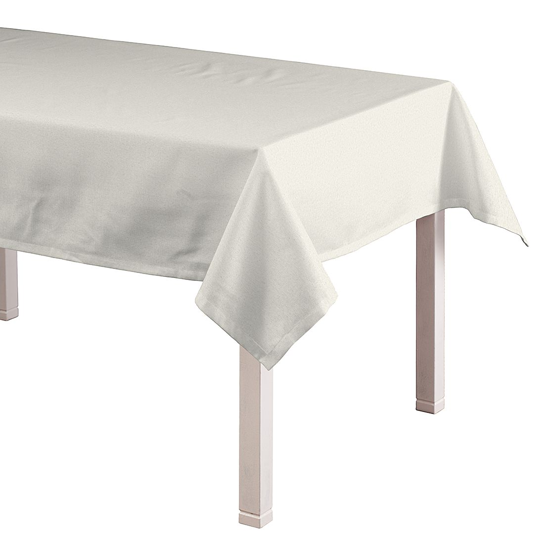 Tafelkleed Loneta - Crème - 130x160cm, Dekoria