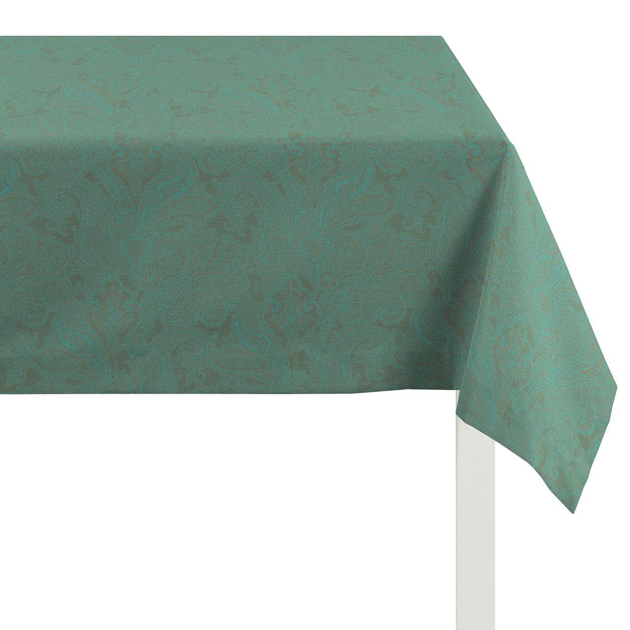 Tafelkleed Joseni - geweven stof - Turquoise Green - 100x100cm, Apelt