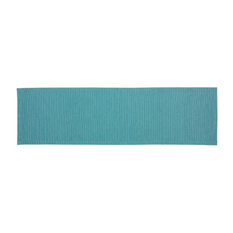 Tafelloper Needlestripe - smaragdblauw, Esprit Home