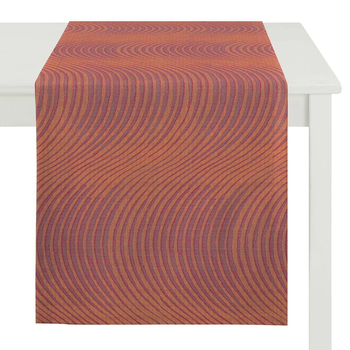 Tafelloper Topa - geweven stof - Barnsteenkleurig, Apelt