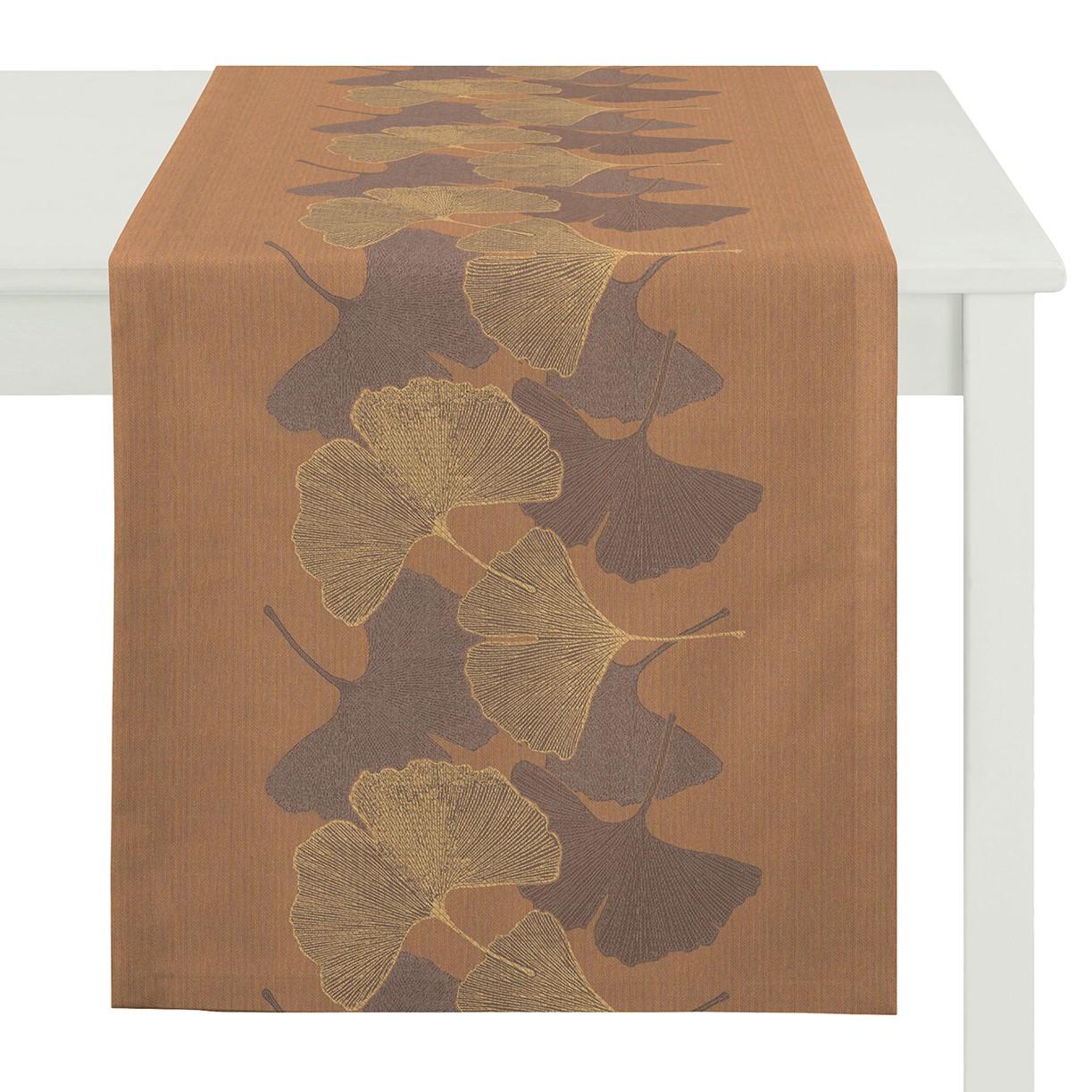 Tafelloper Undeloh - geweven stof - Zandkleurig, Apelt