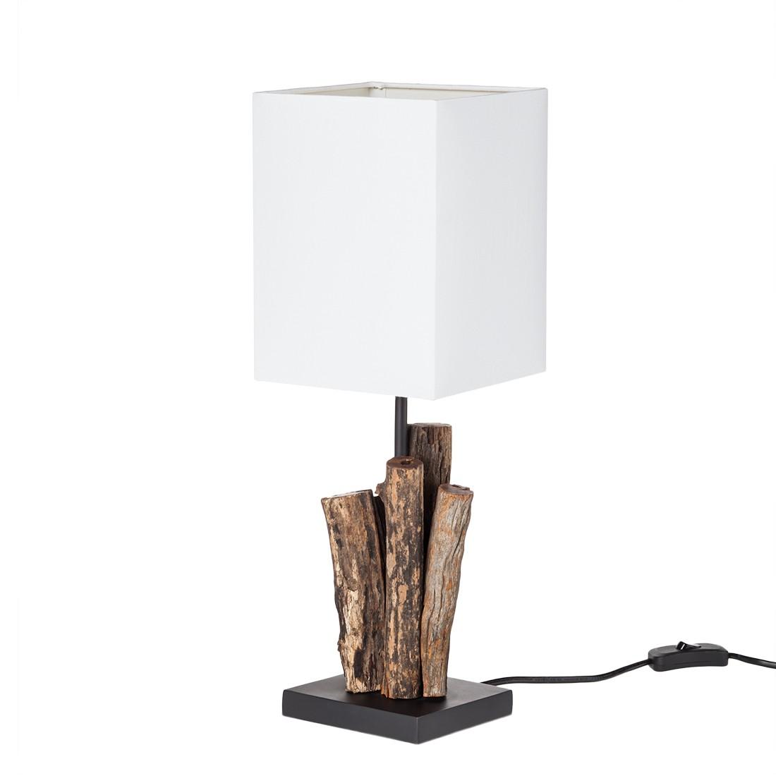 energie  A++, Tafellamp Abuja - houtkleurig - wit, Paul Neuhaus