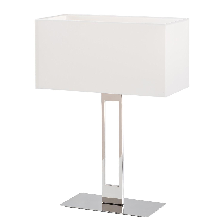 EEK A++, Lampe de table Adoor - Tissu / Acier inoxydable - 1 ampoule, Loistaa