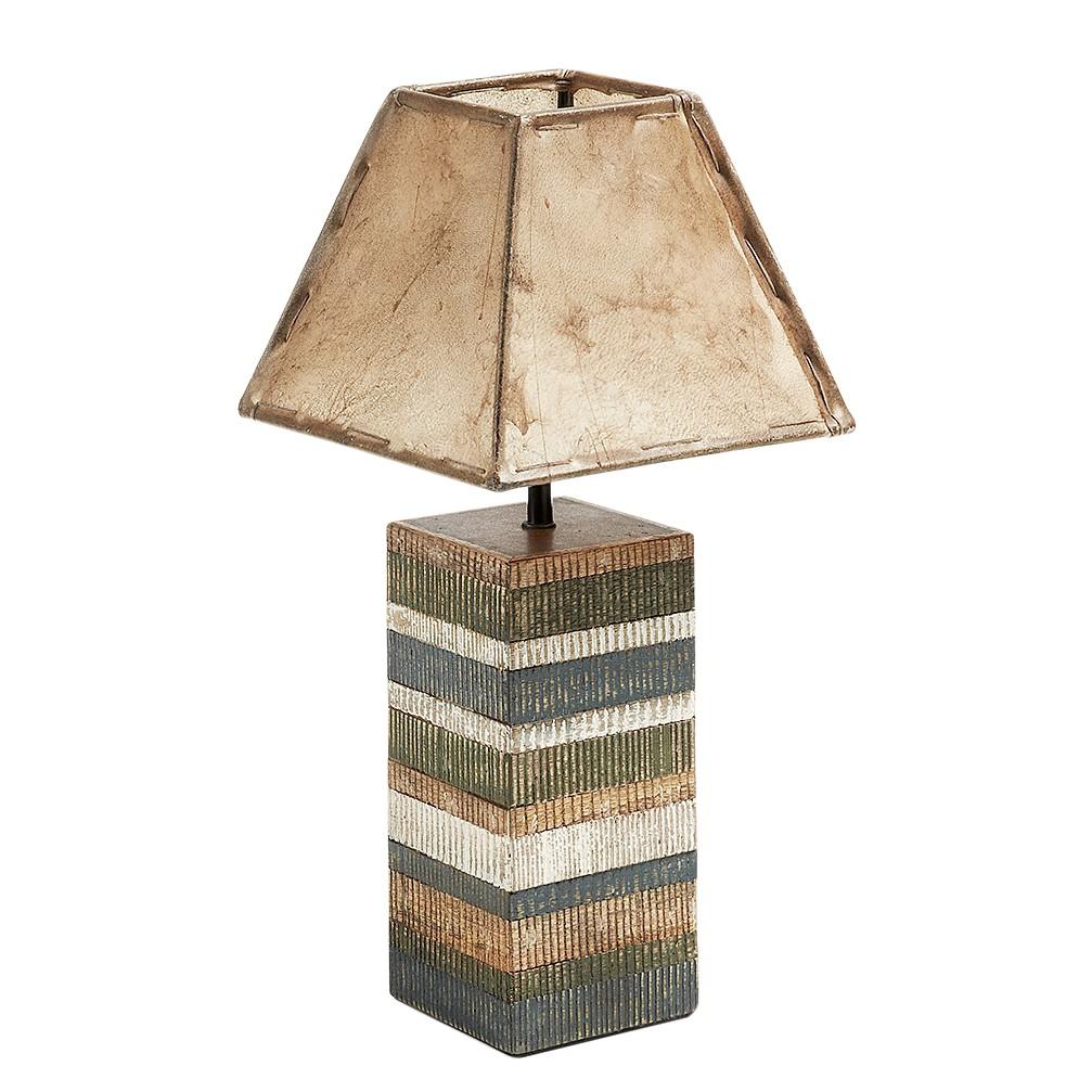 energie  A++, Tafellamp Albero - hout/leer - 1 lichtbron, Naturoo