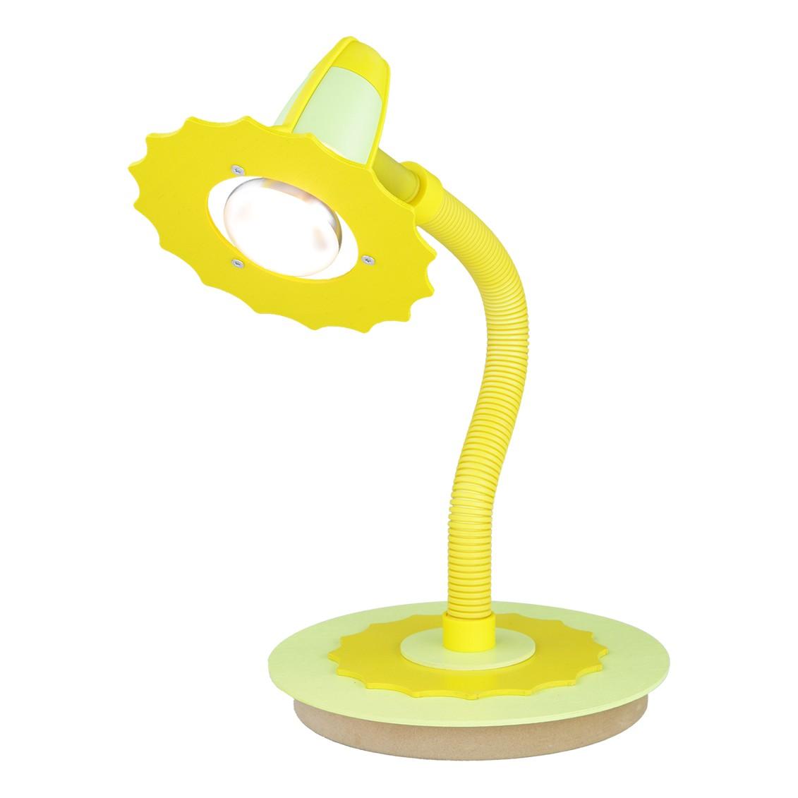 Home 24 - Eek a++, lampe de table fleur - bois 1 ampoule, elobra