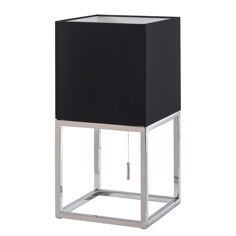 EEK A++, Lampe de table Vitus I - Tissu / Acier inoxydable - 1 ampoule, Loistaa