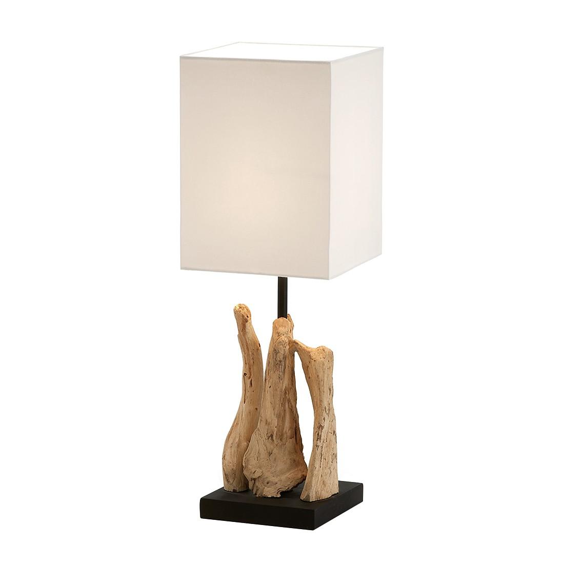 EEK A++, Lampe de table Butler by Julià - Bois / Tissu 1 ampoule, Naturoo