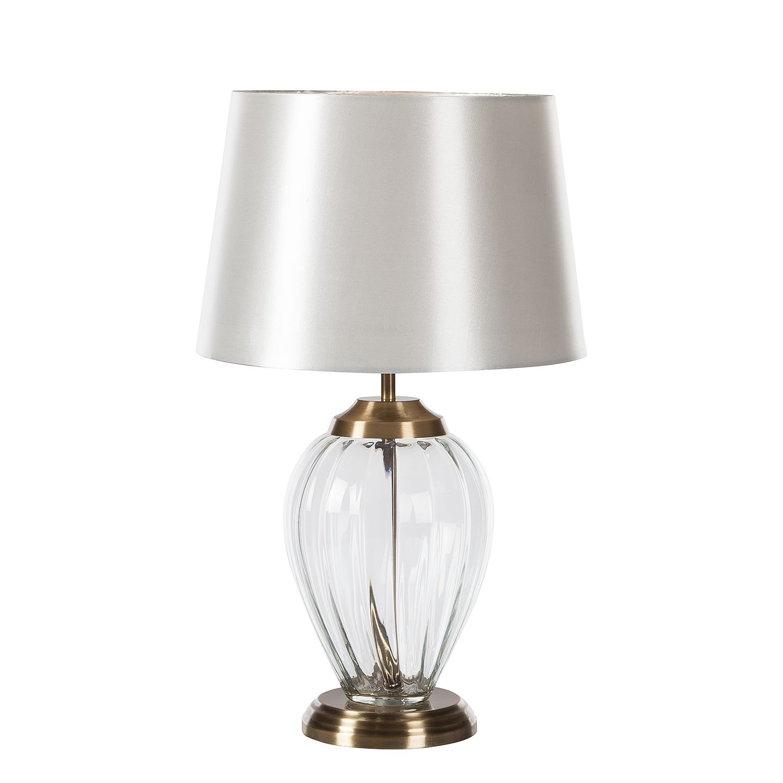EEK A++, Lampe de table Colima - Coton / Verre - 1 ampoule, Loistaa