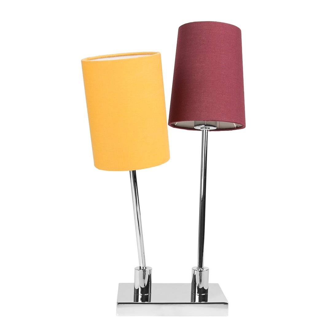 EEK A++, Lampe de table Corvus - Tissu / Métal - 2 ampoules, Loistaa