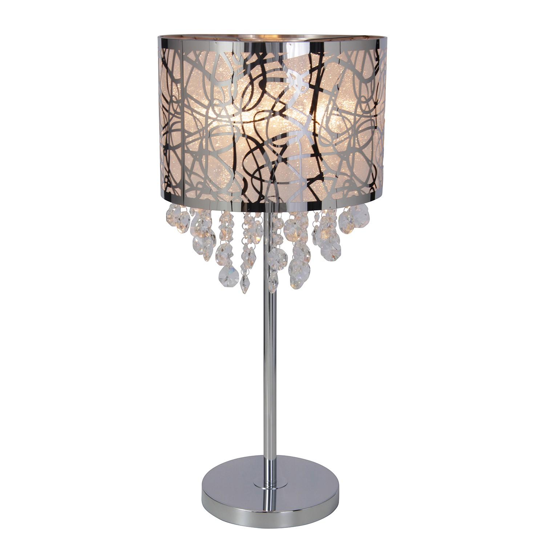 EEK A++, Lampe de table Crystallo par Näve - Acier / Verre Argenté 1 ampoule, Näve