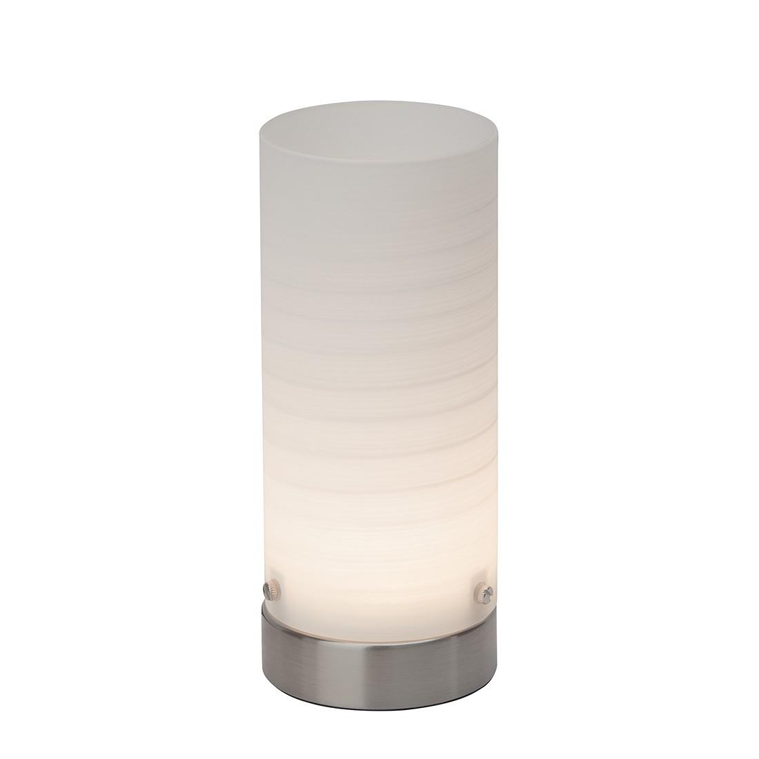 EEK A+, Tischleuchte Daisy - Metall/Glas - Silber - 1-flammig, Brilliant