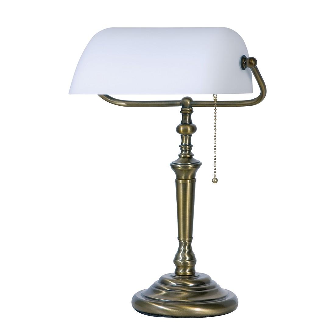 EEK A++, Lampe de table De Rio- 1 ampoule - Laiton bruni, Steinhauer