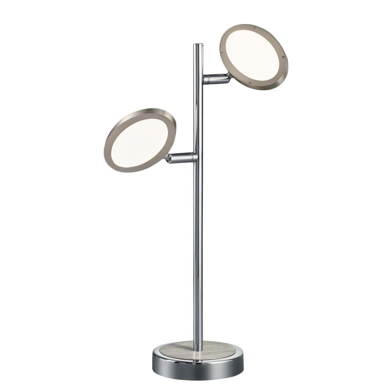 energie  A+, LED-tafellamp Duellant - plexiglas/metaal - 2 lichtbronnen, Trio