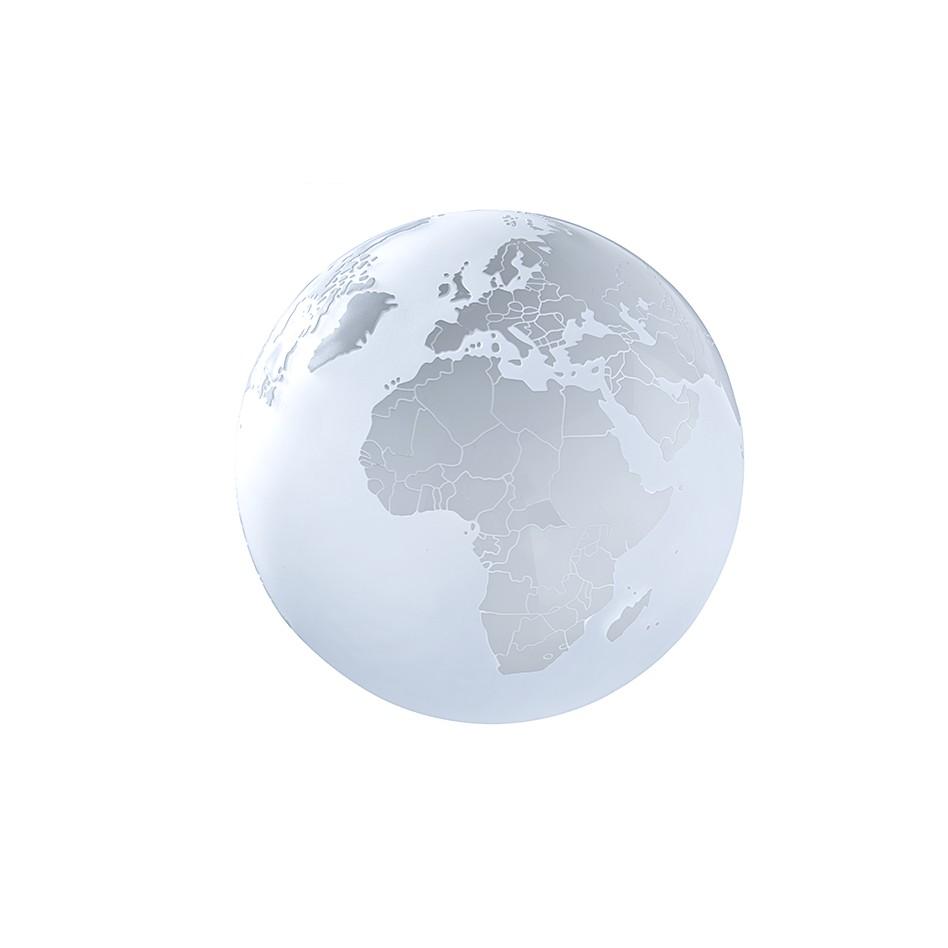 EEK A++, Lampe de table Earth - Blanc - 1 ampoule, Sompex