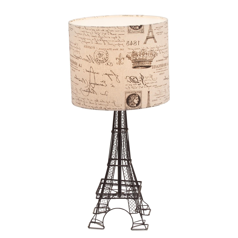 EEK A++, Lampe de table Eiffel Tower - Tissu / Métal - 1 ampoule, Brilliant