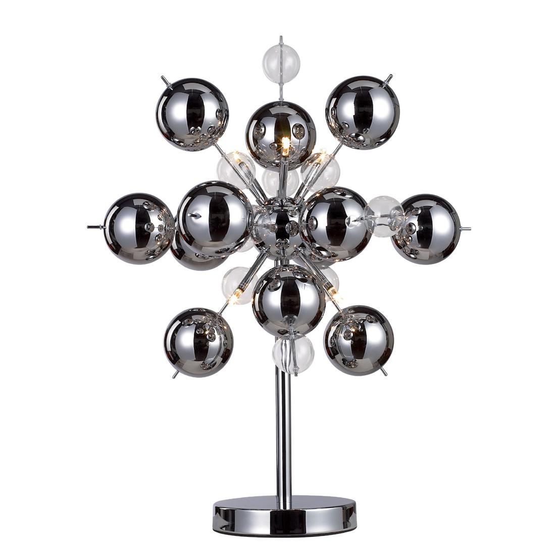 EEK A++, Lampe de table Explosion - Métal Argenté 6 ampoules, Näve