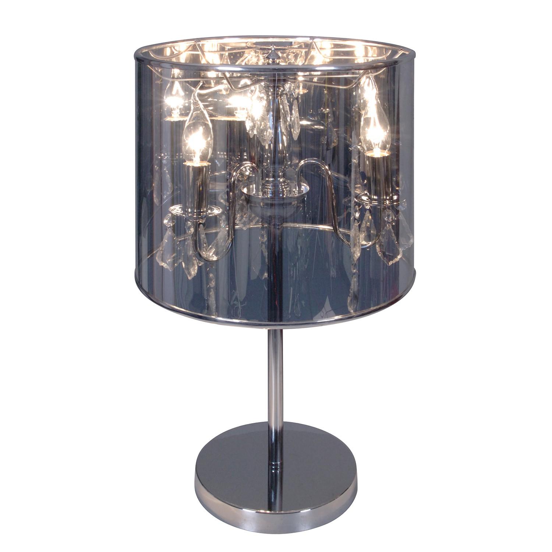 energie  A++, Tafellamp Flame by Näve - metaal/zilverkleurig kunststof 3 lichtbronnen, Näve