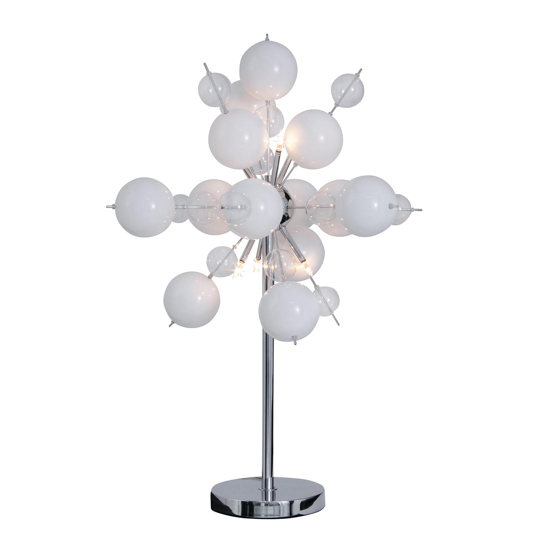 EEK A++, Lampe de table Glasball Explosion - Métal Blanc 6 ampoules, Näve