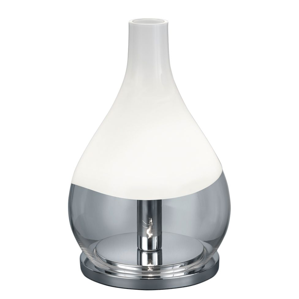 EEK A++, Lampe de table Kingston - Verre / Métal - 1 ampoule, Trio