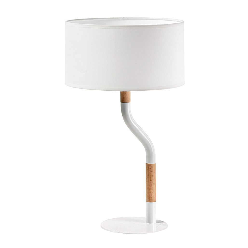 EEK A++, Lampe de table Leroca - Métal / Bois - 1 ampoule, Norrwood