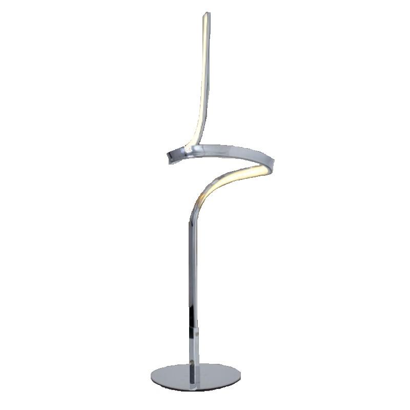 EEK A+, Lampe de table Loop Line by Näve - Métal / Matériau synthétique Argenté, Näve