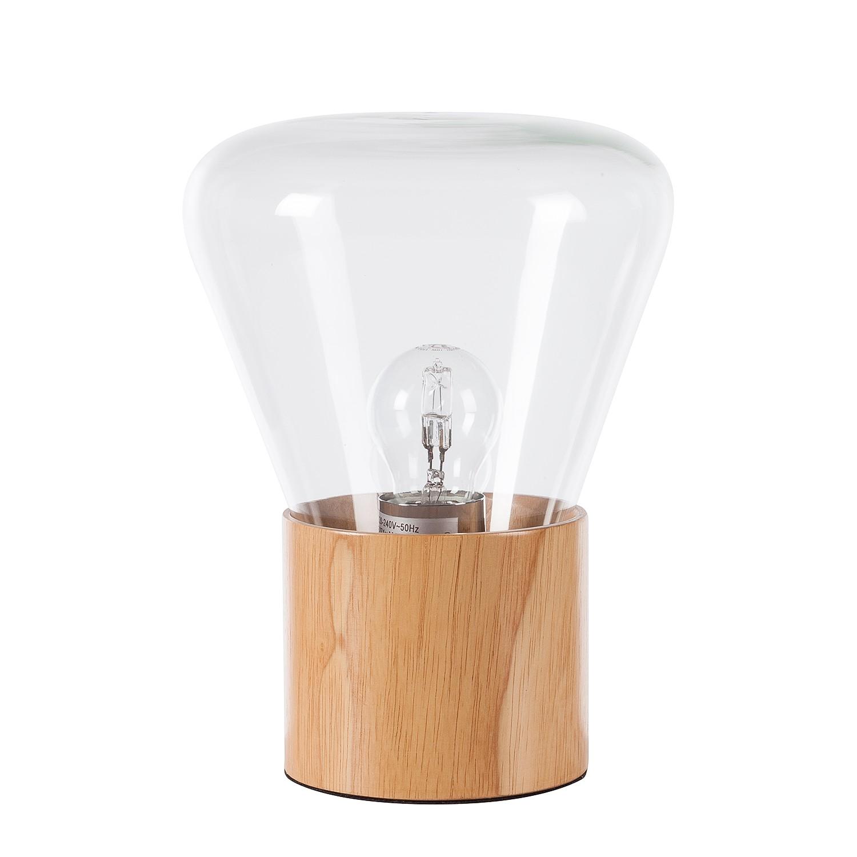 EEK A++, Lampe de table Lumis - Verre / Acacia massif - 1 ampoule, Eva Padberg Collection