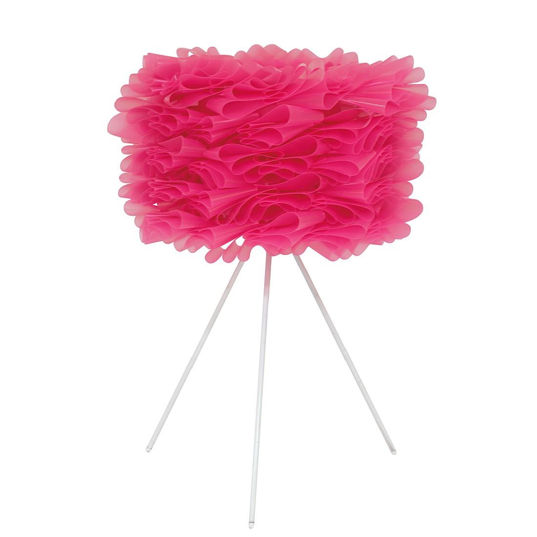 Tafellamp Marty - kunststof/metaal roze 1 lichtbron, Näve