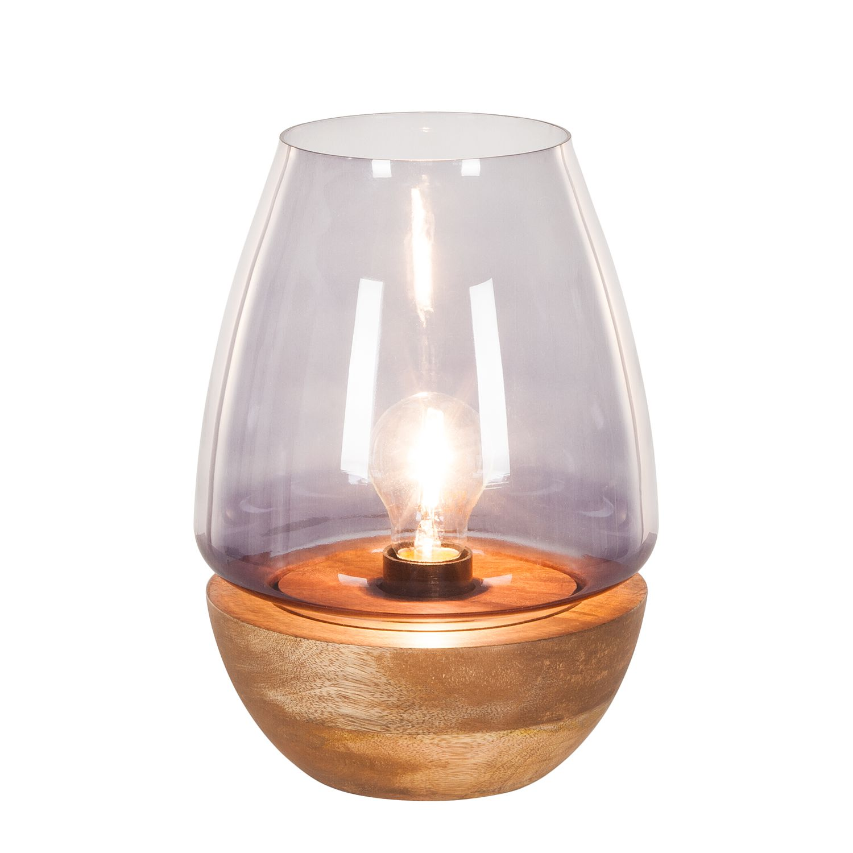 energie  A++, Tafellamp Mourenx - glas/bamboehout - 1 lichtbron - 27, Eva Padberg Collection