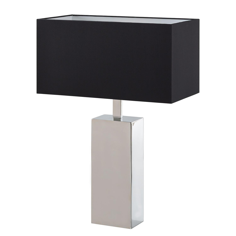 EEK A++, Lampe de table Elega - Tissu / Acier inoxydable - 1 ampoule, Loistaa