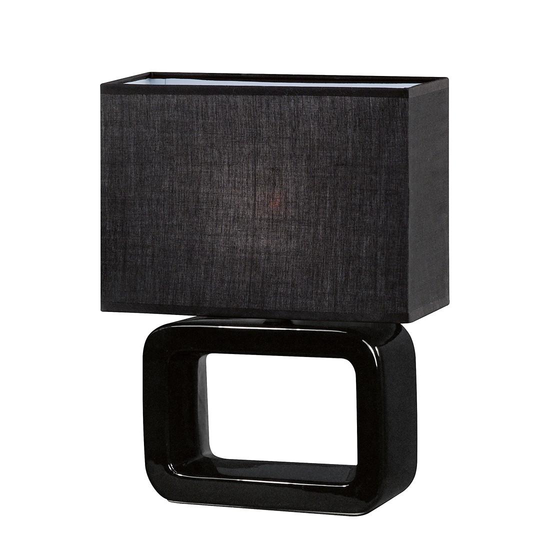 EEK A++, Tischleuchte Nea Keramik Schwarz - 1-flammig, Honsel