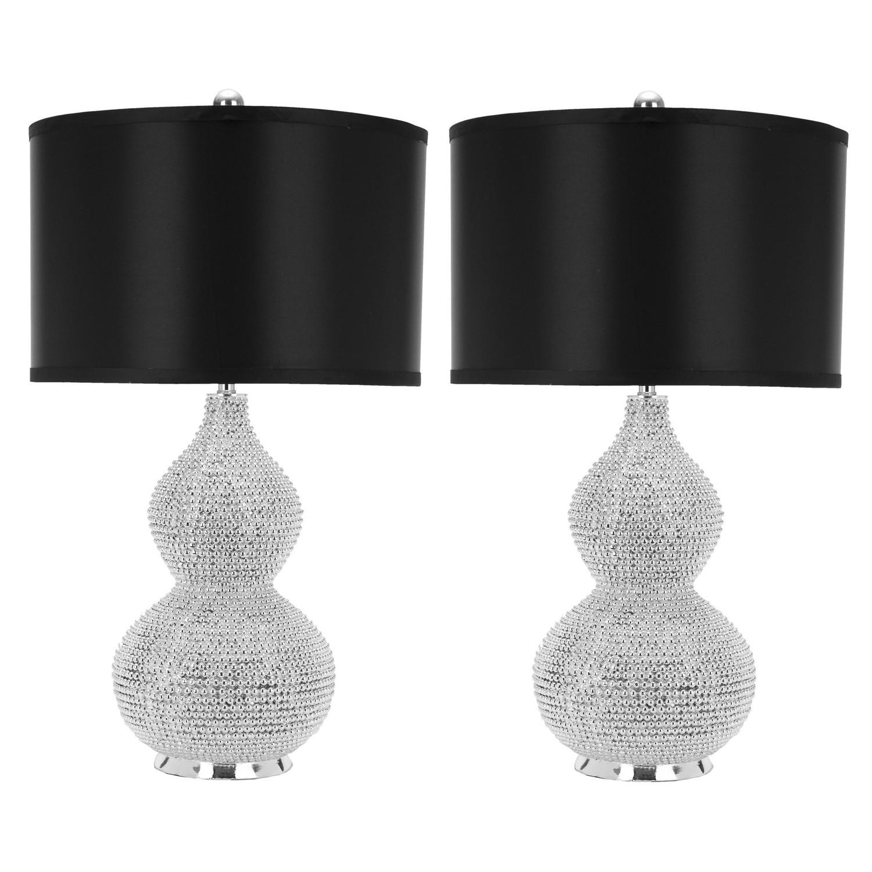 Lampe de table Nicole (lot de 2) - Noir, Safavieh