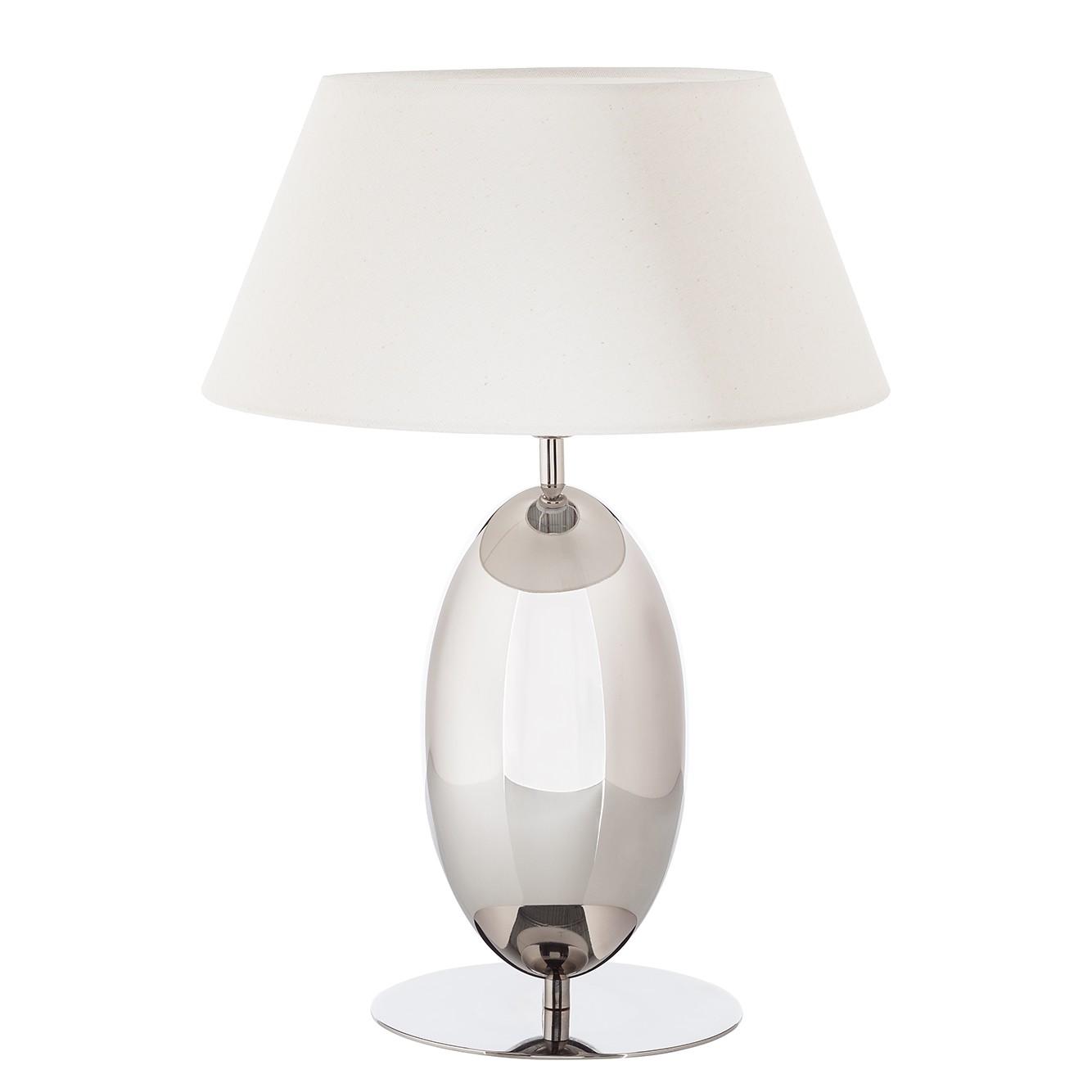 EEK A++, Lampe de table Remy - Tissu / Acier inoxydable - 1 ampoule, Loistaa