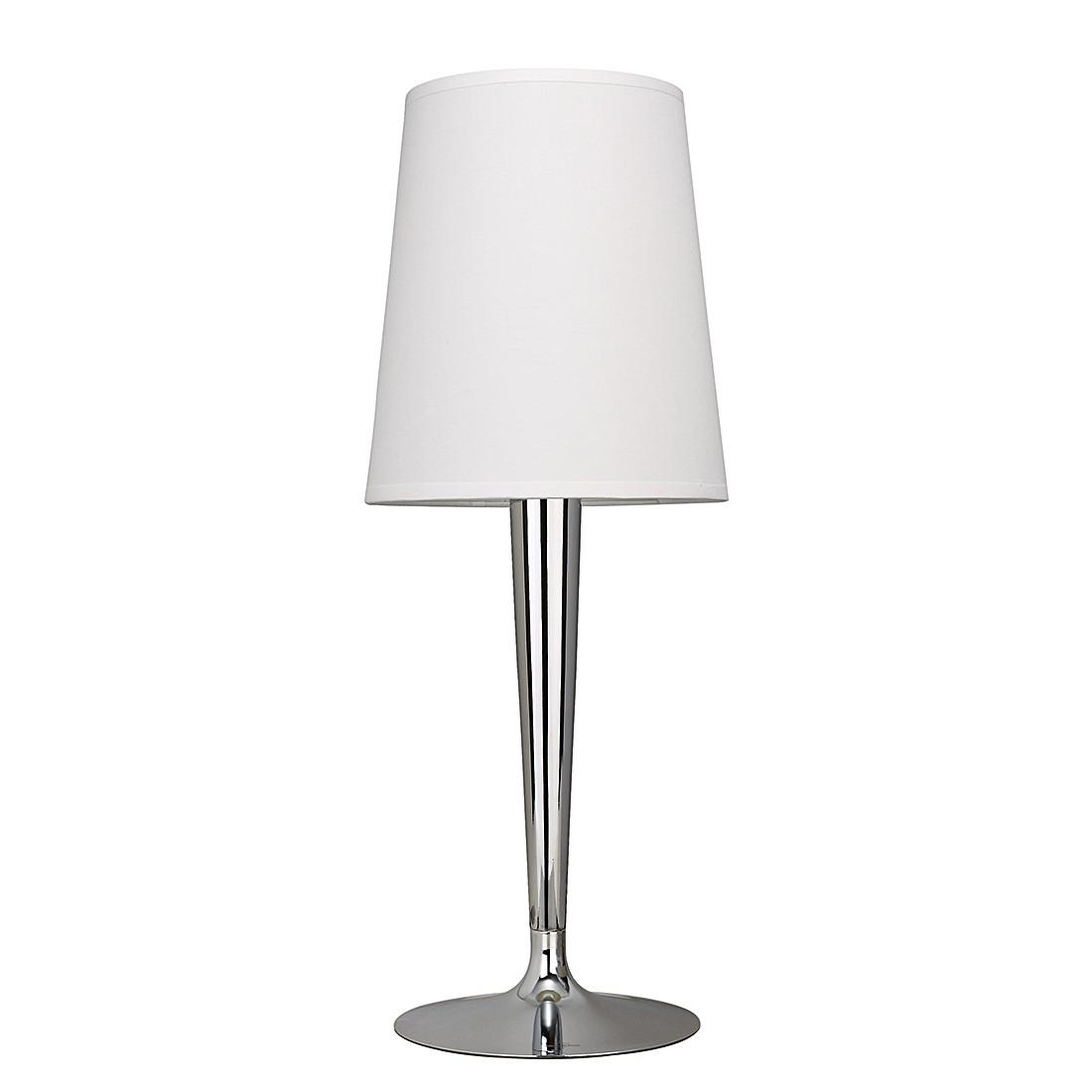 EEK A++, Lampe de table Paris - Argenté / Blanc - 1 ampoule, Villeroy und Boch