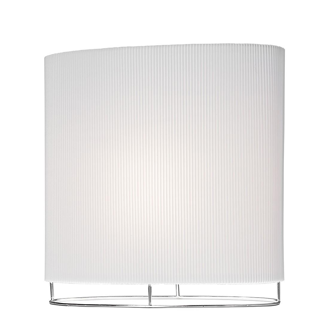 EEK A++, Lampe de table Roman - Argenté / Blanc - 1 ampoule, Sompex