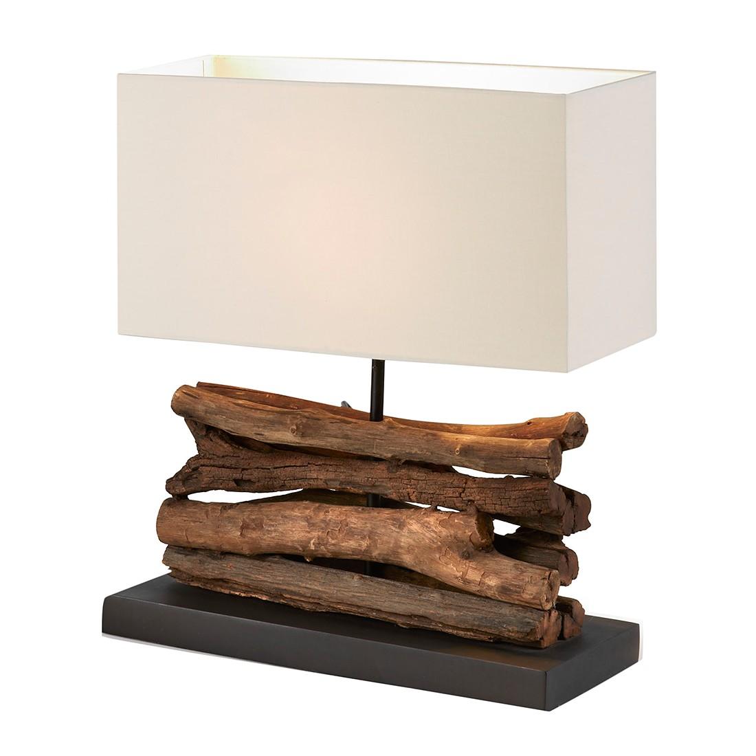 EEK A++, Lampe de table Sahai by Julià - Bois / Tissu 1 ampoule, Naturoo