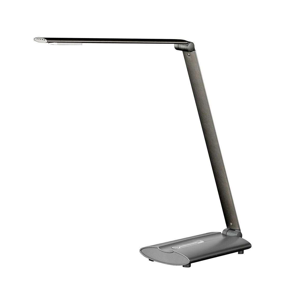 EEK A+, LED-Tischleuchte Signe Metall Grau - 1-flammig, Honsel