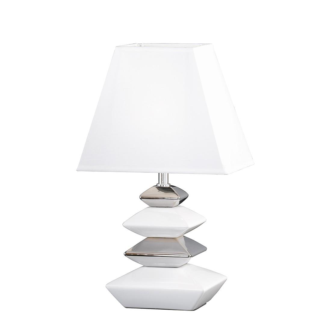 energie  A++, Tafellamp Sophie - keramiek - zilverkleurig - 1 lichtbron, Honsel