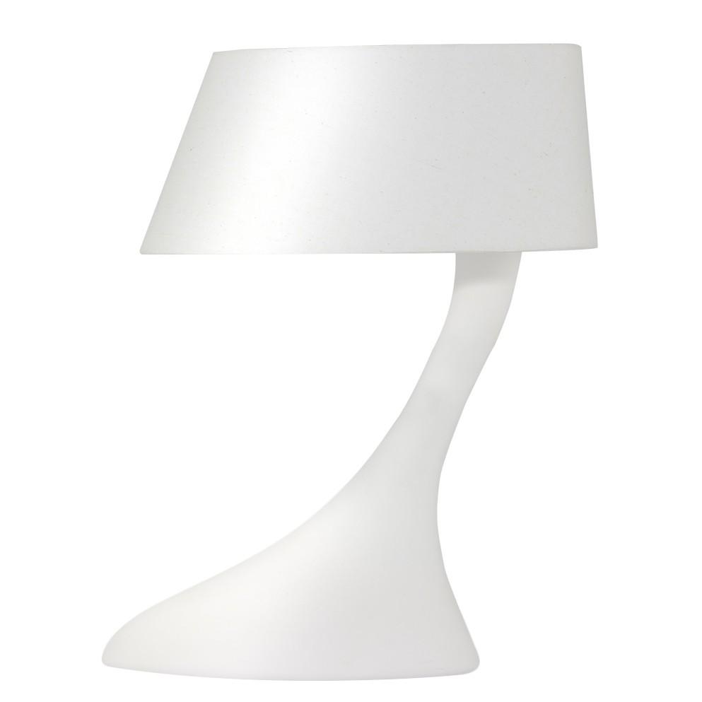 EEK A++, Lampe de table Swan - Lin / Plâtre - 1 ampoule, Loistaa
