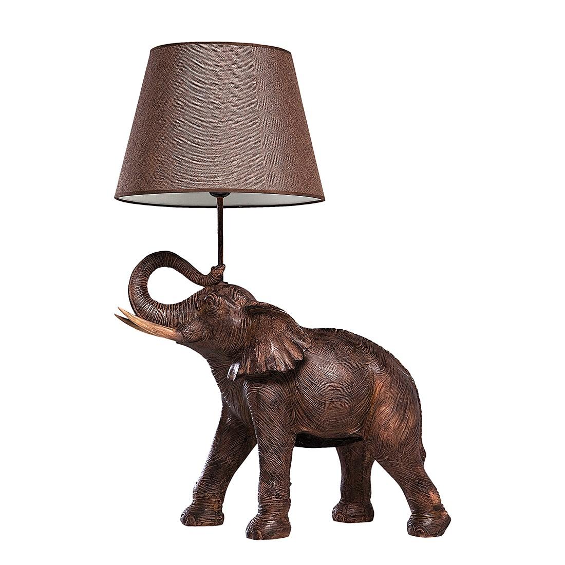 EEK A++, Lampe de table TL Elephant Safari - Matériau synthétique / Tissu 1 ampoule, Kare Design
