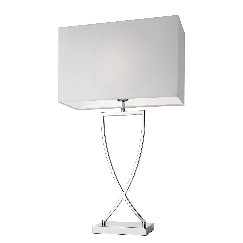 EEK A++, Lampe de table Toulouse - Métal / Tissu Chrome, Villeroy und Boch