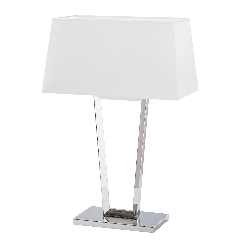 EEK A++, Lampe de table Aria - Tissu / Acier inoxydable - 1 ampoule, Loistaa