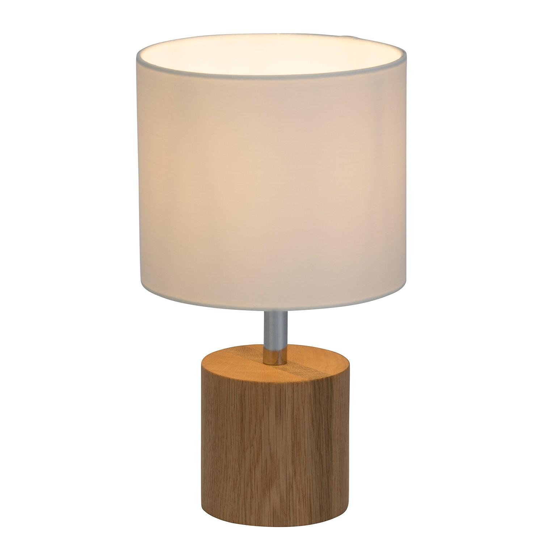EEK A++, Lampe de table Plant - Tissu / Chêne massif - 1 ampoule, Brilliant