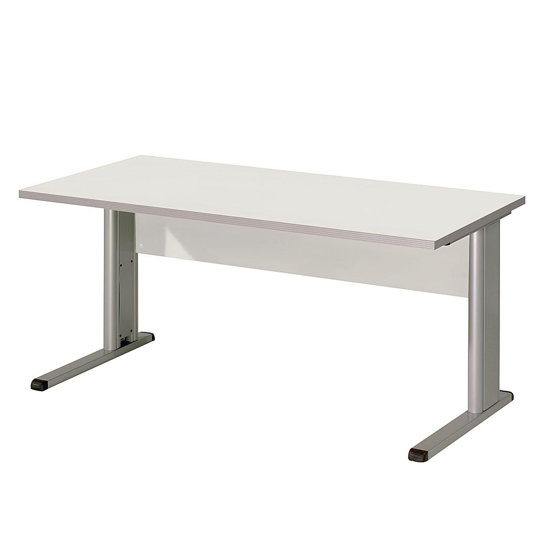 Bureau Kirk IV - lichtgrijs - tafelblad: 160x80cm, Wellemöbel