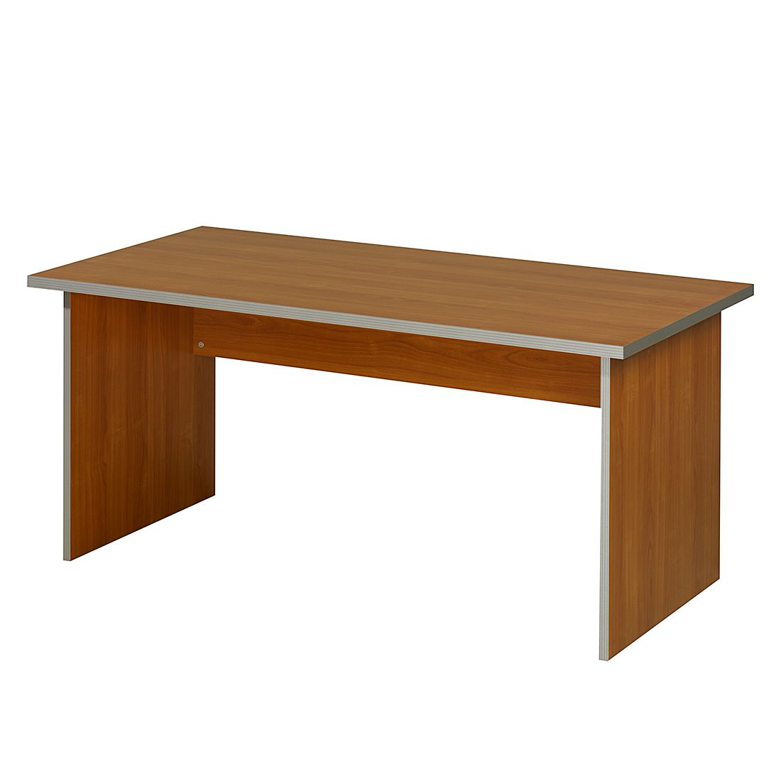 Table de bureau Kirk VII - Imitation merisier - Plateau de table : 80 x 80 cm, Wellemöbel